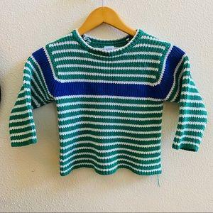 BABY GAP vintage stripe cotton sweater 4 green